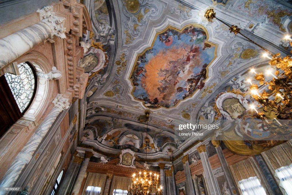 Salone da Ballo in Ca' Rezzonico, Venice, Veneto, Italy, Europe : Stock Photo