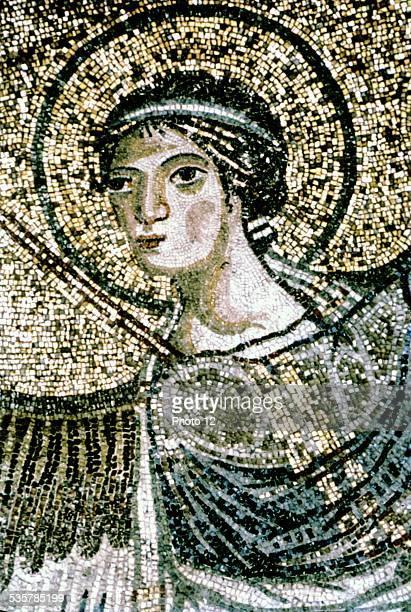 Salonika Mosaic from the dome of Hagia Sophia 9th century Byzantine art
