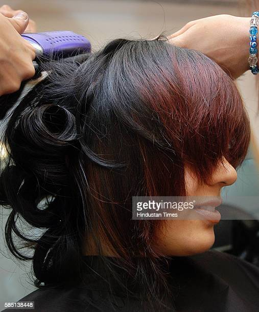 Saloon Hair Color Hair cut L'Oreal Three Girls Make Over at Peninsula Towers Lower Parel