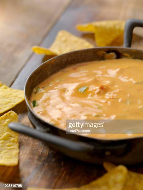 salsa cheese dip - cheese sauce stock photos and pictures