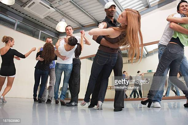 salsa class - dance studio stock pictures, royalty-free photos & images