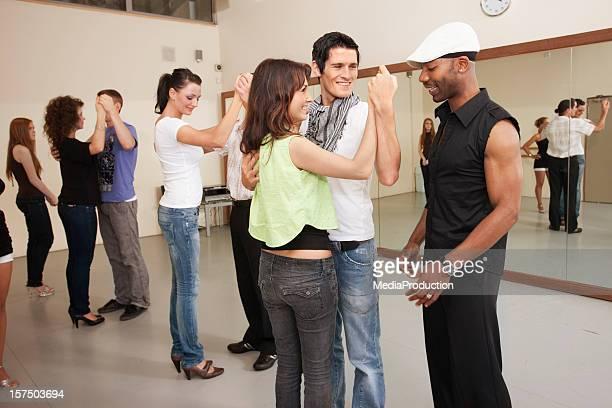 salsa class - salsa dancing stock photos and pictures