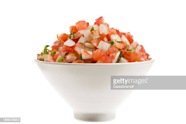 Salsa Fresca In A Bowl Isolated