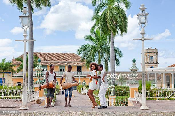 salsa in trinidad, cuba - salsa dancing stock photos and pictures