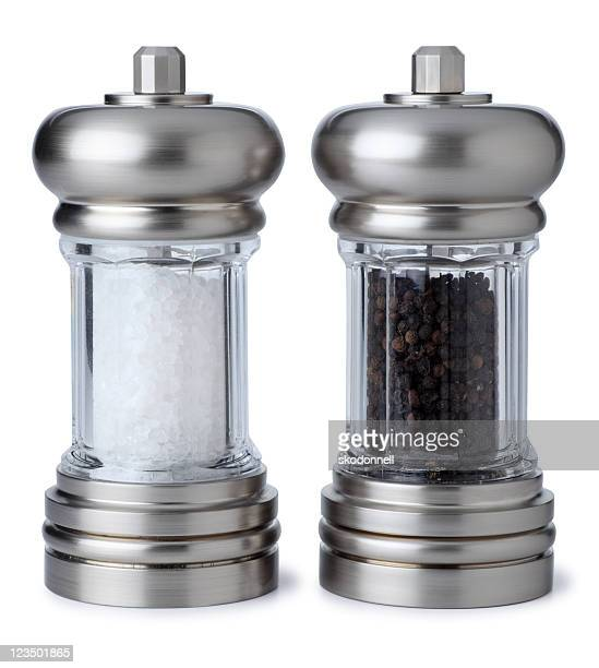 Salt and Pepper Shaker Isolated on White