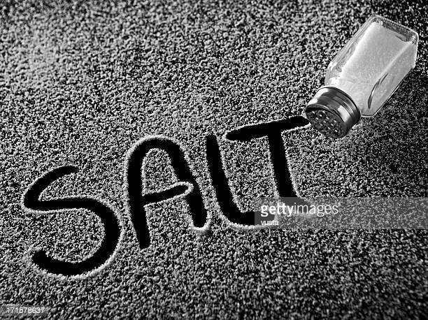 salt and shaker - sodium stock photos and pictures