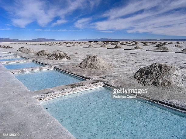 Salt Evaporation Ponds at Salina Grande, Argentina