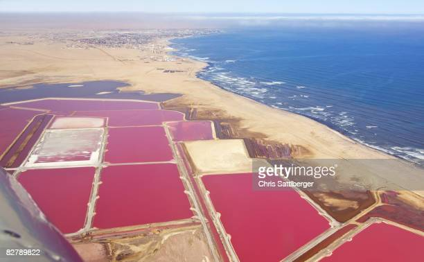 salt evaportion ponds on Atlantic coast