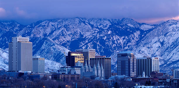Salt Lake City Skyline With Wasatch Mtns. Wall Art