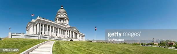 Salt Lake City Utah State Capitol building panorama