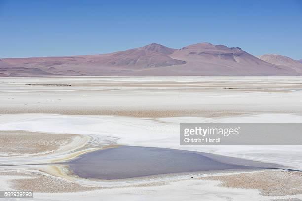 Salt lake on the road to Argentina, 27CH, San Pedro de Atacama, Antofagasta Region, Chile