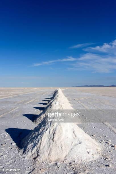 Salt mounds at Salar de Uyuni