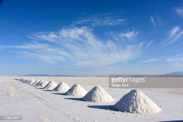Salt mounds at Salar de Uyuni
