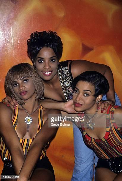 Salt N Pepa video shoot for Schoop at Club USA New York August 31 1993