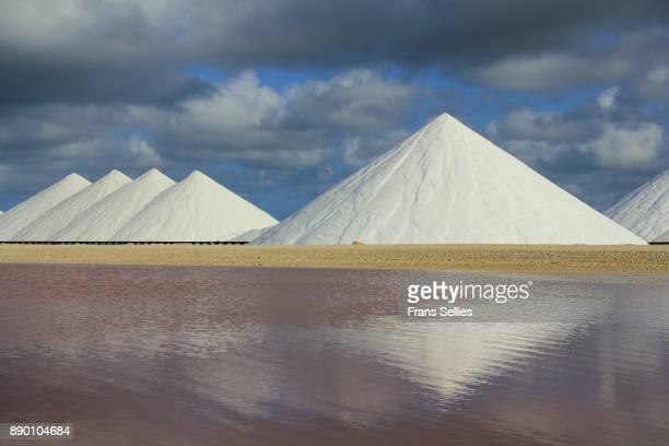 Salt pans and industry on Bonaire, Netherlands Antilles