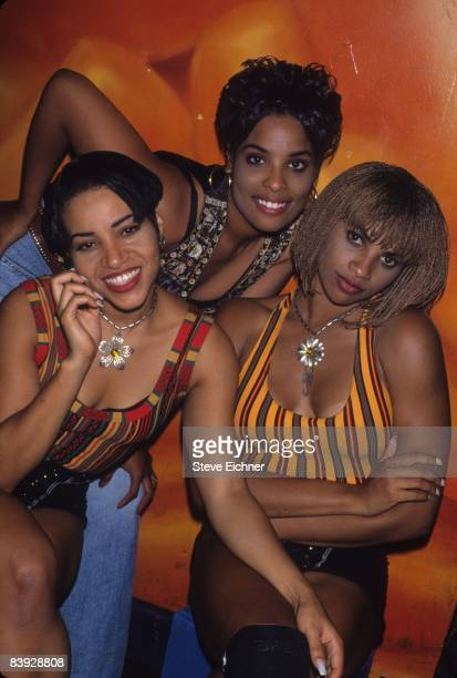 Salt Pepa performing at Club USA during the video shoot for their song 'Shoop' 1993 New York
