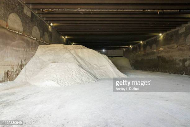 salt pile - road salt stock pictures, royalty-free photos & images