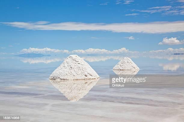 塩山にウユニ塩湖、ポトシ、ボリビア、南アメリカ