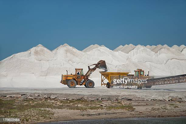 salt pond - mineral stock pictures, royalty-free photos & images