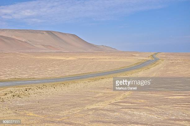 Salt road in Desert of Paracas, Peru
