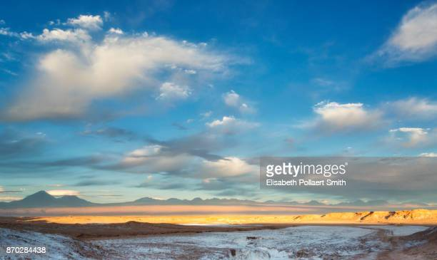 salt road, sunset, mountains in the distance - road salt stock pictures, royalty-free photos & images