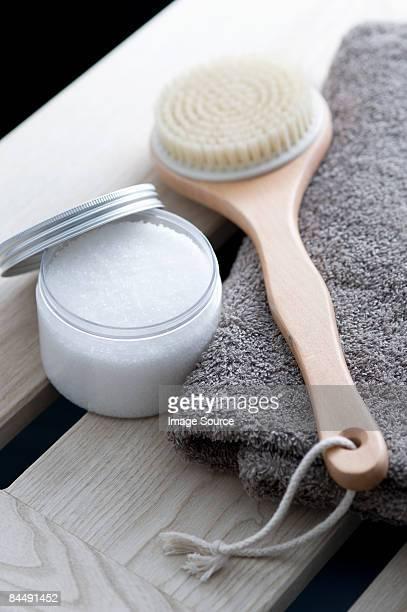 Salt scrub and back brush