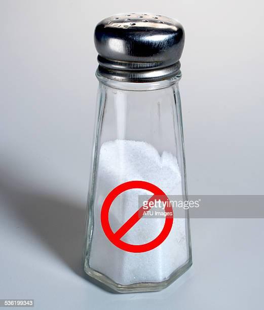 Salt shaker ban sign