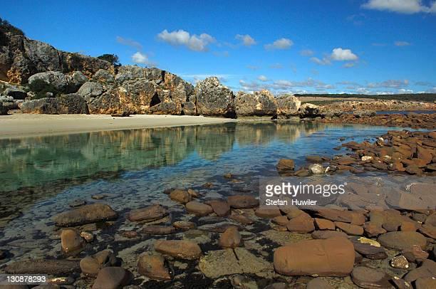 Salt water lagoon on Kangaroo Island, Flinders Chase National Park, South Australia, Australia