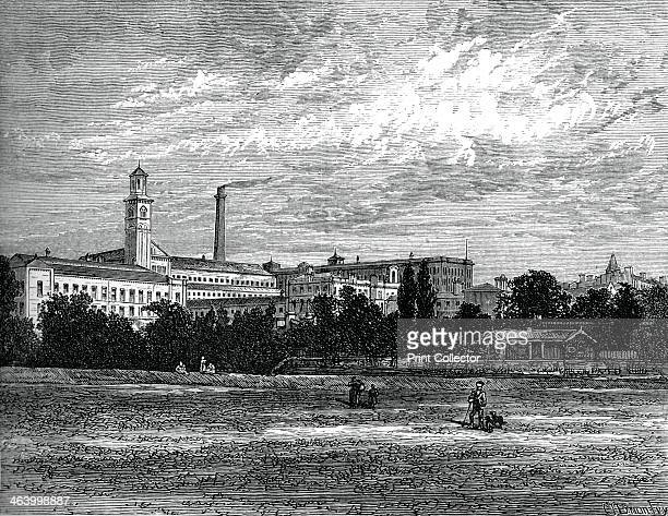 Saltaire works, c1880. Sir Titus Salt discovered a method of blending alpaca wool with cotton and silk. He is best remembered as the builder of...