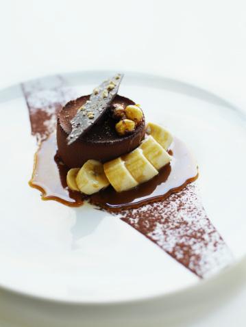 Salted caramel and hazelnut mousse cake - gettyimageskorea