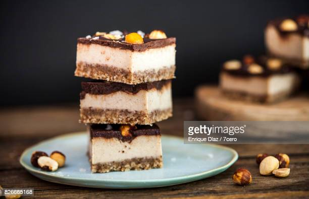 Salted Caramel and Hazelnut Slice Stack