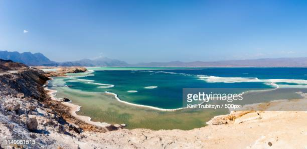 salted lake assal - djibouti stock pictures, royalty-free photos & images