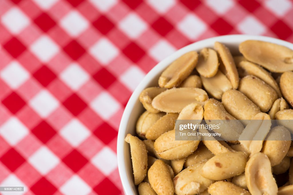 Salted Peanuts in a Bowl : Stock Photo