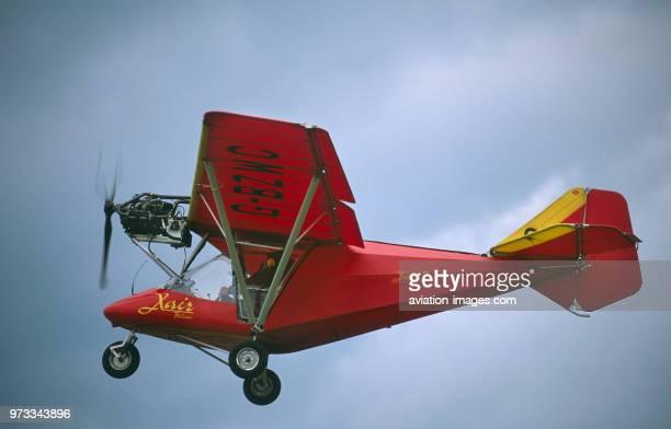 Salter Gaj X'Air Falcon 912 microlight climbing out after takeoff
