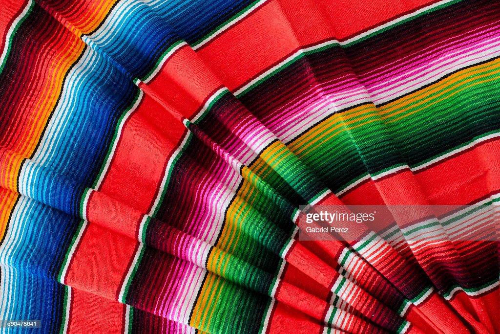 Saltillo Serape A Traditional Mexican Textile Stock Photo