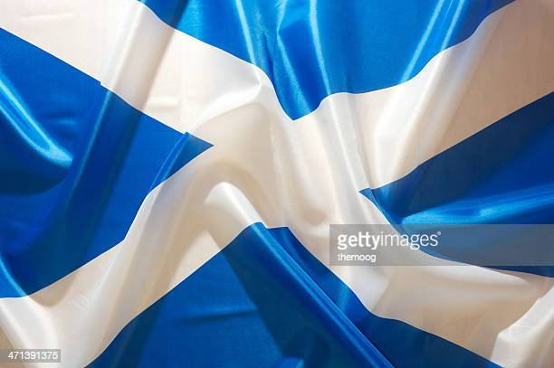 saltire flag of scotland - scotland flag stock photos and pictures