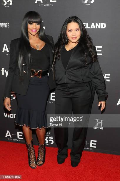 SaltnPepa attend the 2019 AE Upfront at Jazz at Lincoln Center on March 27 2019 in New York City