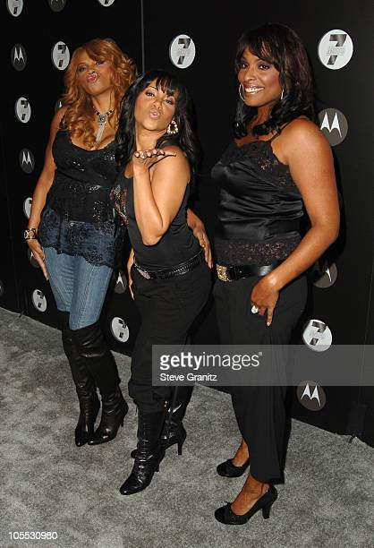 SaltNPepa during Motorola's Seventh Anniversary Party to Benefit Toys for Tots Arrivals at American Legion Hall in Los Angeles California United...