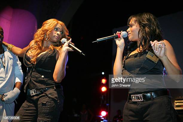 SaltNPepa during Motorola's Seventh Anniversary Party to Benefit Toys for Tots Inside at American Legion in Los Angeles California United States