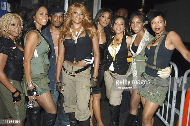 SaltNPepa honorees and En Vogue during 2005 VH1 Hip Hop Honors Backstage and Audience at Hammerstein Ballroom in New York City New York United States