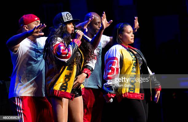 "Salt-N-Pepa perform during the 4th Annual ""Home For The Holidays"" Benefit Concert at Beacon Theatre on December 6, 2014 in New York City."