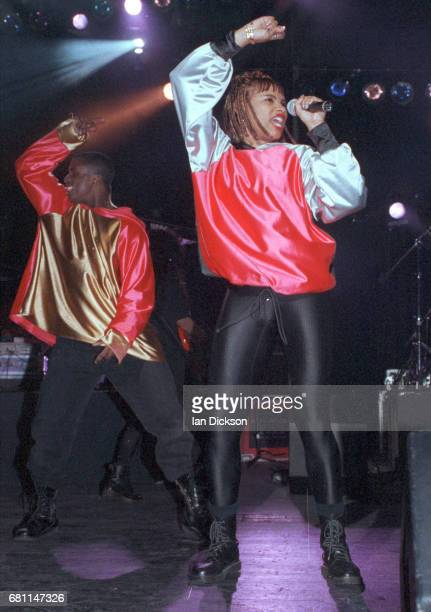 SaltNPepa performing on stage at Hammersmith Odeon London 05 December 1991