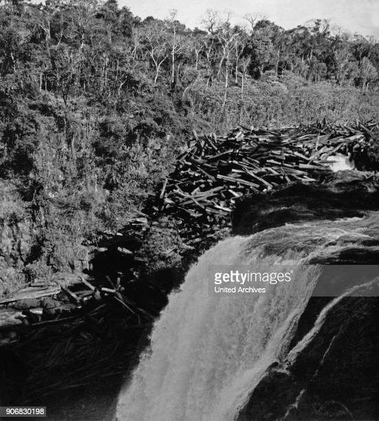 Salto del Rio Monday cascades Paraguay 1960s