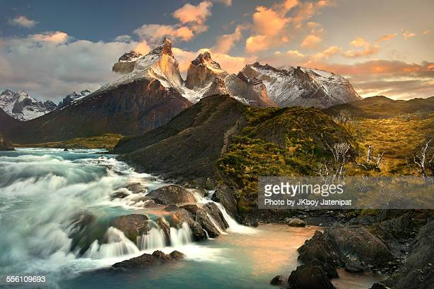 salto grande - patagonia chile stock photos and pictures