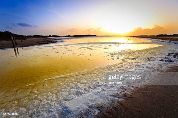 Salzige coastal Lagune