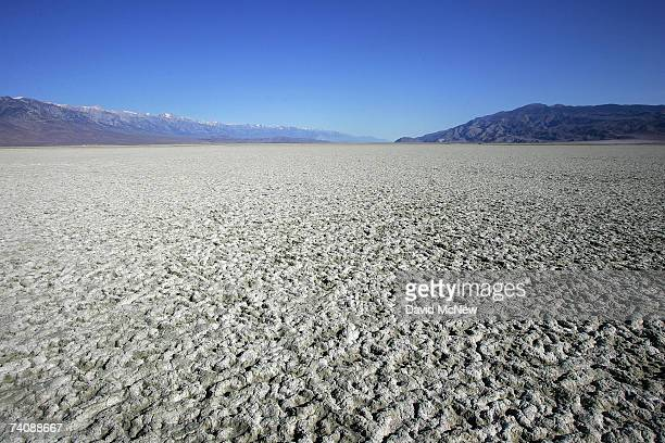 A salty crust of fine dust covers the mostlydry Owens Lake bed on May 6 2007 near Lone Pine California The Los Angeles Department of Water and Power...