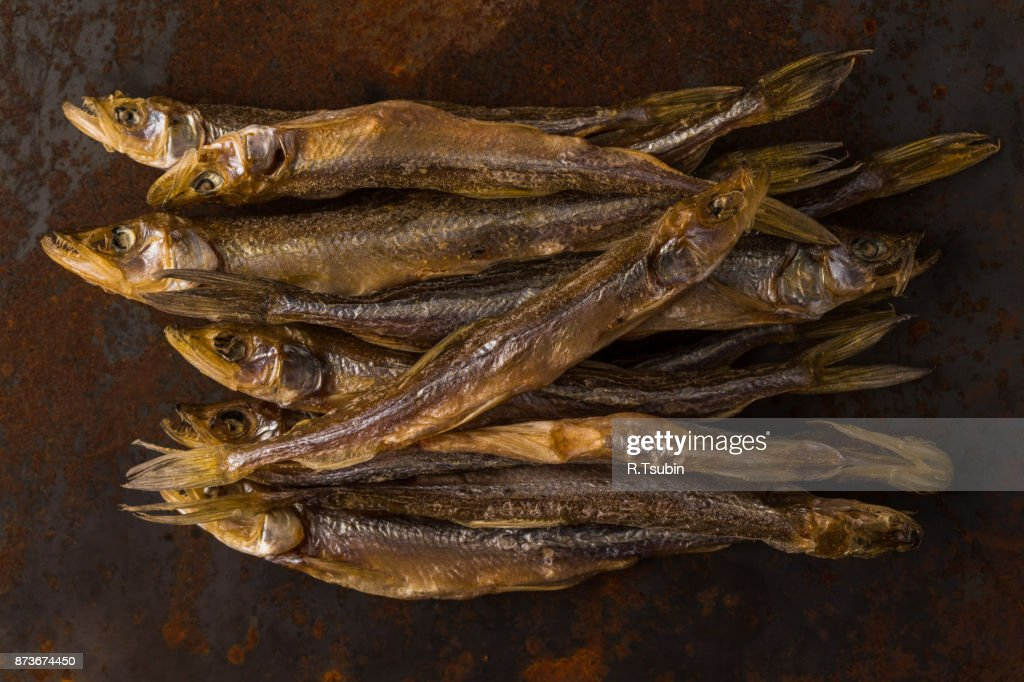 Salty dry river fish : Stock Photo