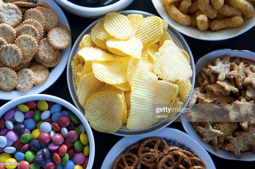 Salty snacks : Stock Photo