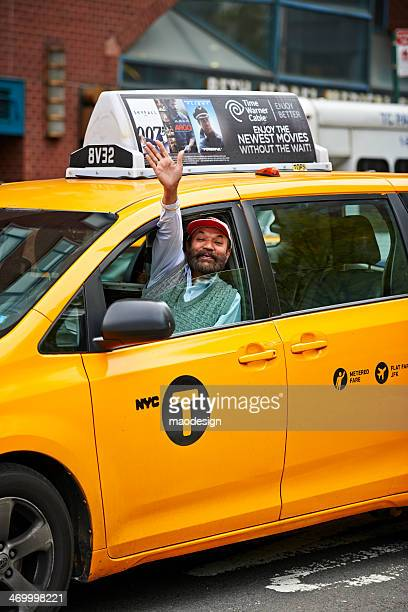 salute gesture - taxi driver stock photos and pictures