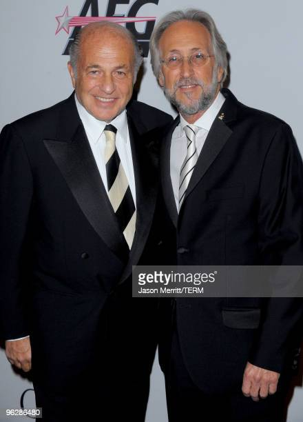 Salute To Industry Icons Honoree Doug Morris and Recording Academy President Neil Portnow arrive at the 52nd Annual GRAMMY Awards Salute To Icons...